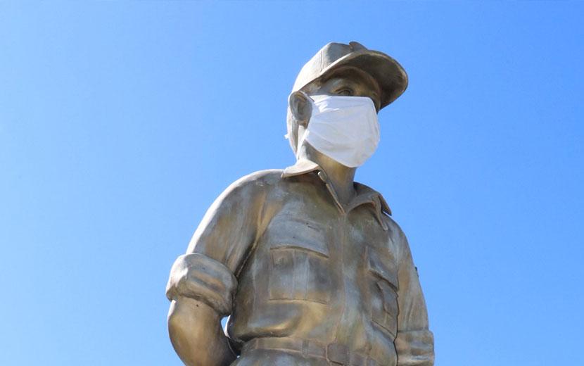 Os monumentos históricos de Bonito-MS também estão de máscara